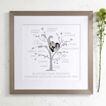Personalised Diamond Anniversary Photo Family Tree